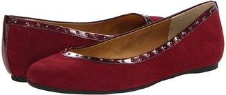 Anne Klein Xandra (Wine Suede) Women's Flat Shoes