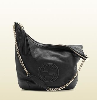 Gucci Soho Leather Shoulder Bag With Chain Strap