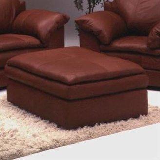 Omnia Leather Encino Cocktail Ottoman Omnia Leather Body Fabric: Southwestern Blue, Seat Cushion Fill: Standard Cushion Fill