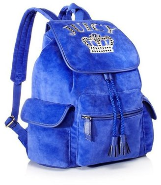 Juicy Couture Royal Iconic Velour Backpack