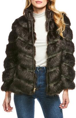 Fabulous Furs Manhattan Faux-Mink-Fur Chevron Jacket