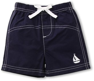 Le Top Anchors Aweigh Woven Swim Trunks (Infant) (Navy) - Apparel