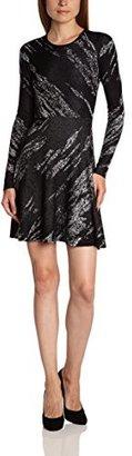 BCBGMAXAZRIA Women's Jillian Crackled Jacquard Dress