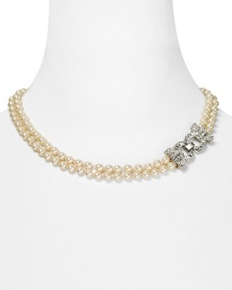 Carolee Double Row Pearl Necklace, 17""