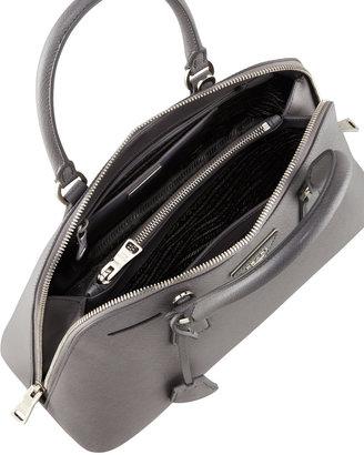 Prada Medium Saffiano Promenade Bag, Gray (Marmo)