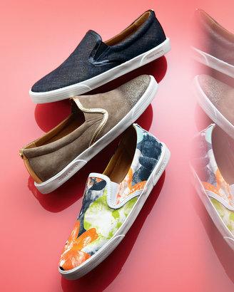 Jimmy Choo Demi Printed Canvas Skater Slip-On