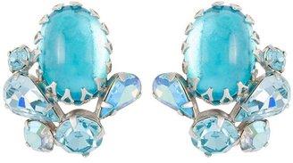 Susan Caplan Vintage 1950s Vintage Swarovski Crystal Clip-on Earrings