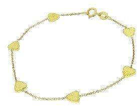 Jennifer Meyer Yellow Gold Heart By The Inch Bracelet