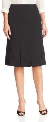 Kasper Women's Crepe Pleated Suit Skirt