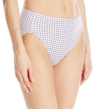 Warner's Women's No Wedgies No Worries Hi Cut Brief Panty $11.50 thestylecure.com