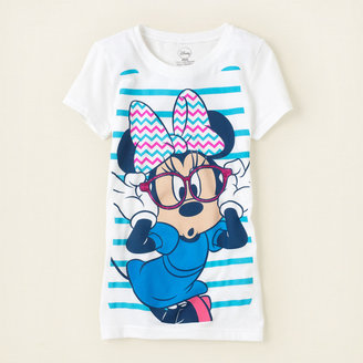 Children's Place Minnie Mouse chevron graphic tee