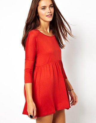 Glamorous Jersey Smock Dress - Orange