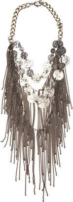 Fallon Infinity Coin Necklace - ox silver