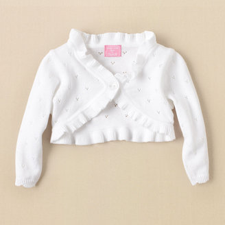 Children's Place Cropped pointelle sweater