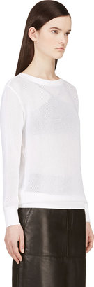 Helmut Lang White Space Knit Sweater