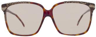 American Apparel Vintage Emmanuelle Khanh Square Tortoiseshell Sunglasses