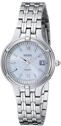 Seiko Women's SUT015 Stainless Steel Dress Solar Watch $225 thestylecure.com