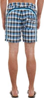 Sundek Check Board Shorts-Blue
