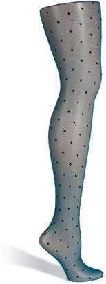 Fogal Petrol/Black Dotted Classy Stockings