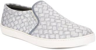 Gray Weave Print Slip-On Sneaker