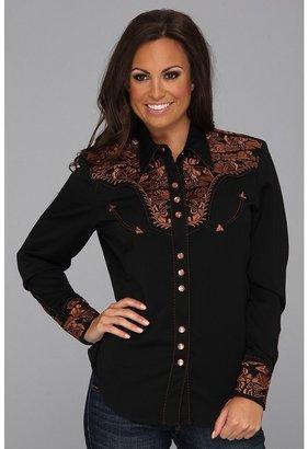 Scully Crimson Western Shirt (Black) - Apparel