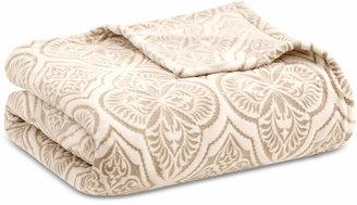 Madison Park Isabella Damask-Print Plush Twin Blanket