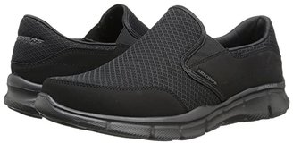 Skechers Equalizer Persistent (Black) Men's Slip on Shoes