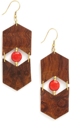 Mata Traders Wooden You Know It Earrings