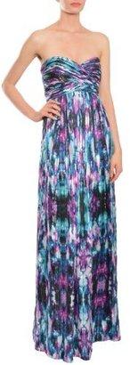 Laundry by Shelli Segal Women's Printed Chiffon Cross Bodice Dress
