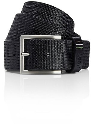 HUGO BOSS 'Terston' | Stamped Leather Belt by BOSS Green
