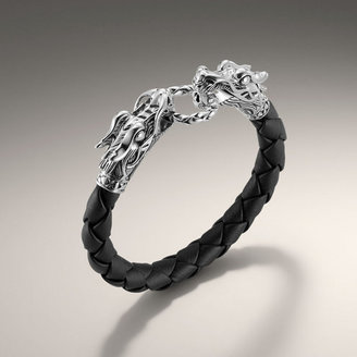 John Hardy NAGA COLLECTION Woven Leather Dragon Bracelet