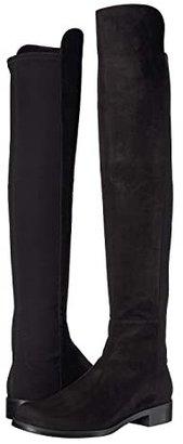 Stuart Weitzman The 5050 Boot (Black Nappa/Stretch Gabardine) Women's Pull-on Boots