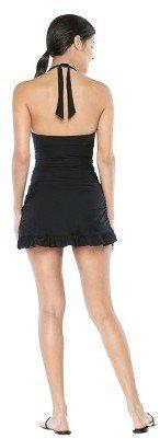 Sara Blakely ASSETS® By A Spanx® Brand Women's Halter Swim Dress - Black