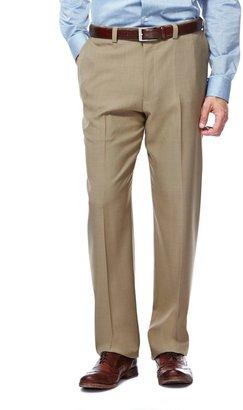 Haggar Men's eCLo Stria Classic-Fit Flat-Front Dress Pants