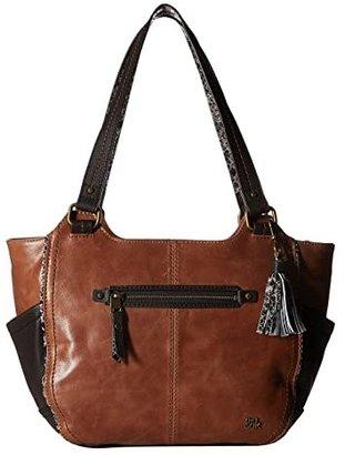 The Sak Kendra Satchel (Tobacco Snake Multi) Shoulder Handbags