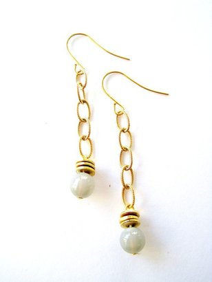 K. Amato Beaded Disc Chain Earrings