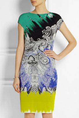 Etro Printed stretch-crepe dress