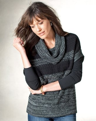 Coldwater Creek Striped cowl neck sweater