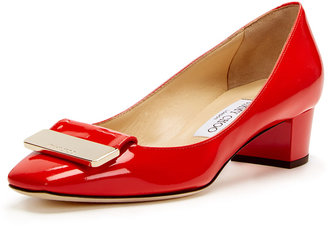 Jimmy Choo Iris Low Heel Patent Leather Pump