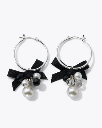 White House Jet/Glass-Pearl Ribbon Hoop