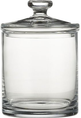 Crate & Barrel Large Glass Canister
