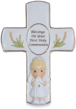 Precious Moments Blessings On Your First Holy Communion Girl Figurine