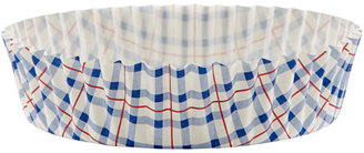 Container Store Plaid Ruffled Baking Cups Blue/Red/White Pkg/30