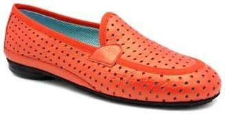 """Thierry Rabotin 1552MP"""" Orange Cut-Out Leather Slip On Loafer"""