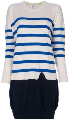 Tsumori Chisato Cats By striped sweater dress