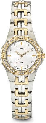 Pulsar Womens Crystal-Accent Dress Watch PTC388
