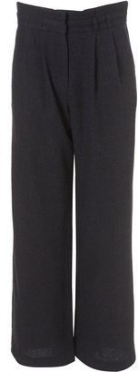 Topshop High Waisted Wide Leg Wool Mix Trousers