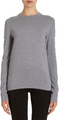 Proenza Schouler Waffle and Fine Gauge Knit Pullover