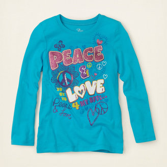 Children's Place Peace doodle graphic tee