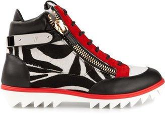 Giuseppe Zanotti Design zebra panel sneakers
